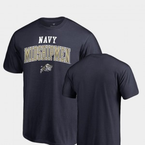 Navy College T-Shirt For Men United States Naval Academy Square Up