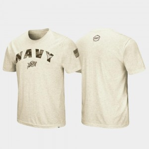 OHT Military Appreciation Oatmeal College T-Shirt Desert Camo For Men's United States Naval Academy