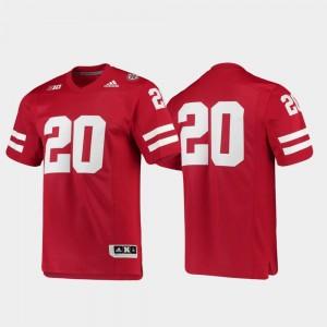 College Jersey Scarlet Nebraska Cornhuskers Mens #20 Football Premier