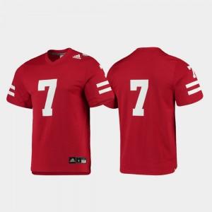 College Jersey Scarlet Replica University of Nebraska #7 Mens Football