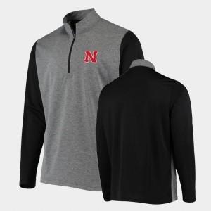Anthracite Men's College Jacket UPF Nebraska Cornhuskers Quarter-Zip
