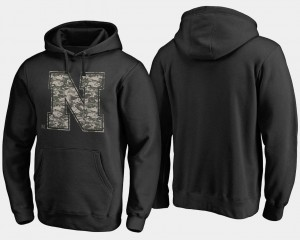 Black Nebraska Cornhuskers College Hoodie Big & Tall Men Camo Cloak