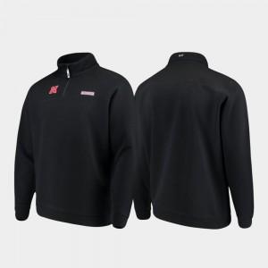 Quarter-Zip Shep Shirt Men College Jacket Black University of Nebraska