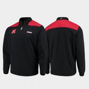 College Jacket Mens Black Quarter-Zip Pullover Nebraska Shep Shirt