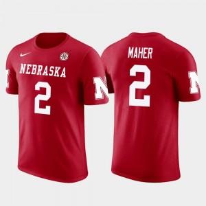 Nebraska Cornhuskers Red Brett Maher College T-Shirt Dallas Cowboys Football Future Stars #2 Men's