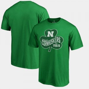 St. Patrick's Day Kelly Green For Men College T-Shirt Paddy's Pride Big & Tall Cornhuskers