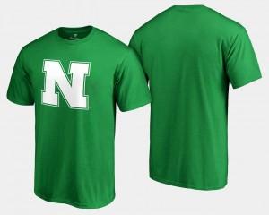 College T-Shirt White Logo Big & Tall Nebraska St. Patrick's Day Men's Kelly Green