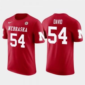 Red Men Nebraska Cornhuskers #54 Lavonte David College T-Shirt Future Stars Tampa Bay Buccaneers Football