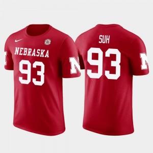 #93 Nebraska Cornhuskers Los Angeles Rams Football Men's Future Stars Ndamukong Suh College T-Shirt Red