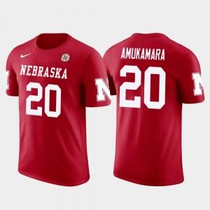 #20 Men's Prince Amukamara College T-Shirt Chicago Bears Football Future Stars Red Nebraska
