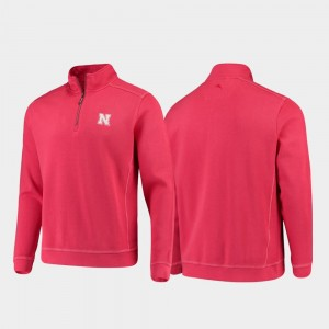 For Men Sport Nassau Scarlet Half-Zip Pullover Tommy Bahama Cornhuskers College Jacket