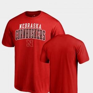 College T-Shirt Scarlet Square Up Nebraska Cornhuskers Men's