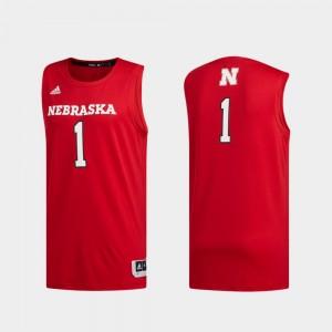 #1 Men Nebraska Basketball Swingman Swingman Basketball College Jersey Scarlet