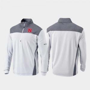 Nebraska Cornhuskers College Jacket White Omni-Wick Standard For Men's Quarter-Zip Pullover