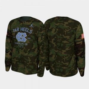 UNC 2019 Veterans Day College T-Shirt Camo Legend Long Sleeve Men's