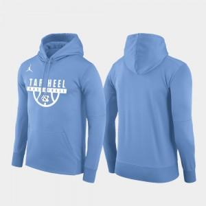 University of North Carolina Pullover College Hoodie Basketball Drop Circuit Carolina Blue Mens