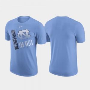 Just Do It College T-Shirt UNC Men Carolina Blue Performance Cotton