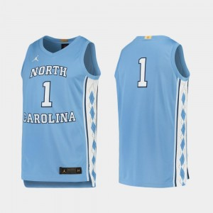 For Men #1 Basketball Limited North Carolina Tar Heels Carolina Blue College Jersey