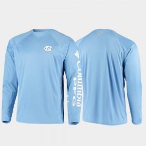 Omni-Shade PFG Terminal Tackle Long Sleeve College T-Shirt North Carolina For Men's Carolina Blue