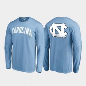 UNC Men's Carolina Blue College T-Shirt Long Sleeve Primetime