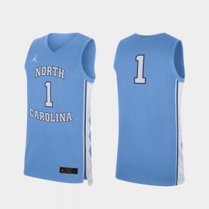Carolina Blue Replica Basketball For Men Tar Heels #1 College Jersey