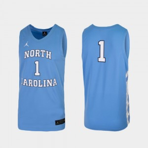 University of North Carolina Basketball College Jersey Replica Carolina Blue #1 Men