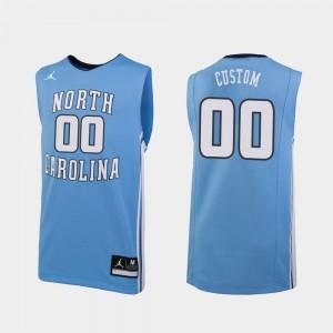 University of North Carolina Replica #00 Carolina Blue College Custom Jerseys For Men's Basketball