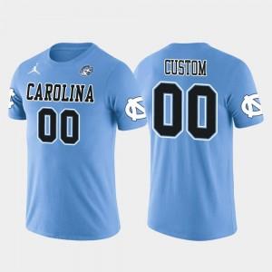 UNC Men Cotton Football Future Stars Light Blue #00 College Custom T-Shirts