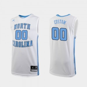 White #00 Replica Basketball For Men's College Customized Jerseys UNC Tar Heels