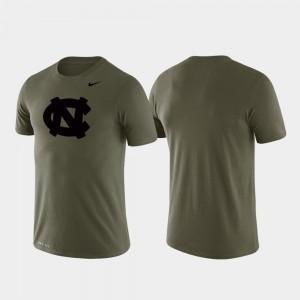 Green College T-Shirt Tonal Logo Legend Performance Tar Heels For Men