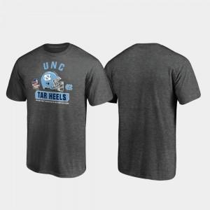 Spike Heather Gray North Carolina Tar Heels Mens College T-Shirt 2019 Military Bowl Bound