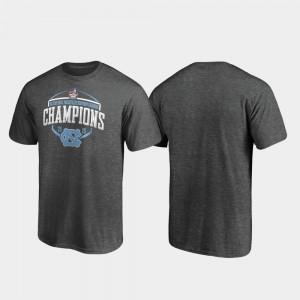 UNC Tar Heels Heather Gray Men College T-Shirt 2019 Military Bowl Champions Corner