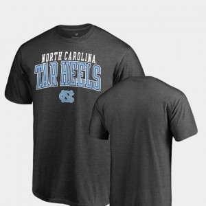UNC Tar Heels College T-Shirt Heathered Charcoal Square Up For Men's