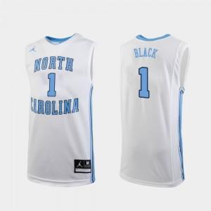 Replica Men's #1 University of North Carolina Leaky Black College Jersey Basketball White