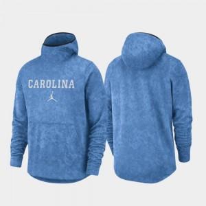 Mens UNC Tar Heels Basketball Team Logo Pullover Light Blue College Hoodie Spotlight