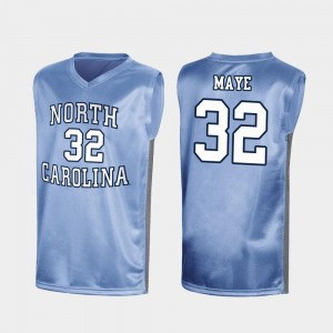 March Madness Luke Maye College Jersey Special Basketball Royal #32 For Men's Tar Heels