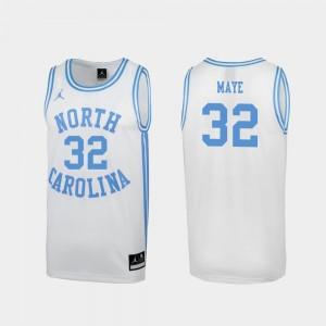 Special Basketball #32 White March Madness Luke Maye College Jersey University of North Carolina Mens