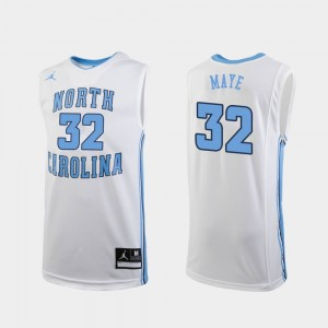 Luke Maye College Jersey Mens #32 Replica White Basketball UNC