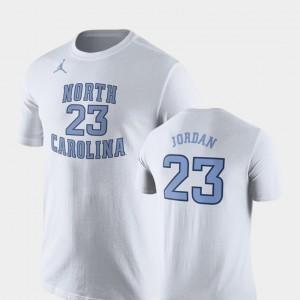 For Men Michael Jordan College T-Shirt #23 Basketball Replica White UNC Future Stars