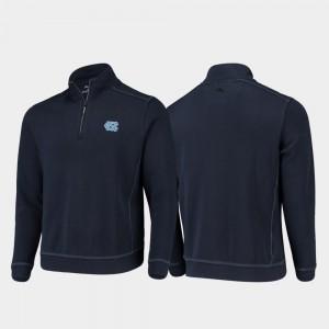 Navy Men Sport Nassau University of North Carolina Half-Zip Pullover Tommy Bahama College Jacket