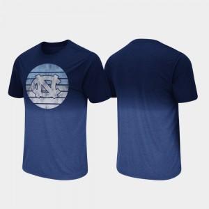 Navy For Men Fancy Walking College T-Shirt Dip Dye North Carolina