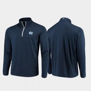Mens College Jacket Navy Gameday University of North Carolina Quarter-Zip Performance