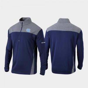 College Jacket Navy Omni-Wick Standard UNC Quarter-Zip Pullover For Men