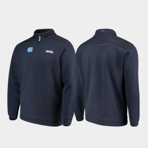 Navy Tar Heels Shep Shirt Men's College Jacket Quarter-Zip