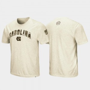 OHT Military Appreciation Desert Camo Mens College T-Shirt Oatmeal Tar Heels