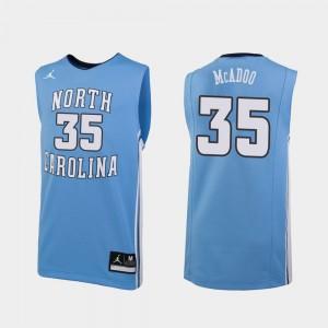 Ryan McAdoo College Jersey Carolina Blue Men's Basketball North Carolina Tar Heels #35 Replica