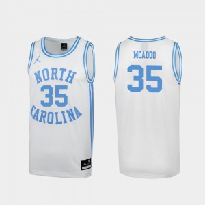 For Men's White Special Basketball March Madness Tar Heels #35 Ryan McAdoo College Jersey