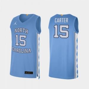 Basketball Alumni Limited Carolina Blue North Carolina #15 Vince Carter College Jersey For Men