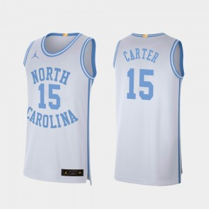 #15 UNC Basketball For Men's Retro Limited Vince Carter College Jersey White