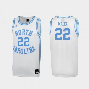 Walker Miller College Jersey #22 March Madness University of North Carolina Men White Special Basketball